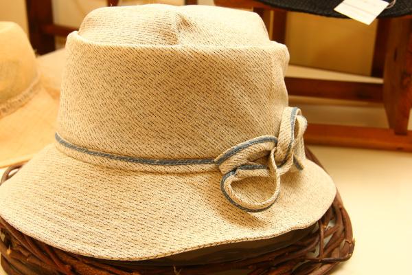 からむし織帽子 生成り